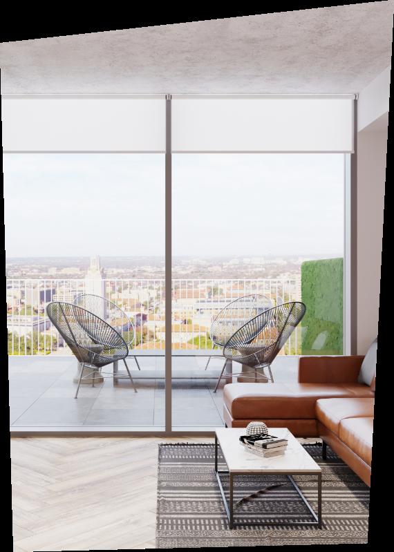 terrace, glass door