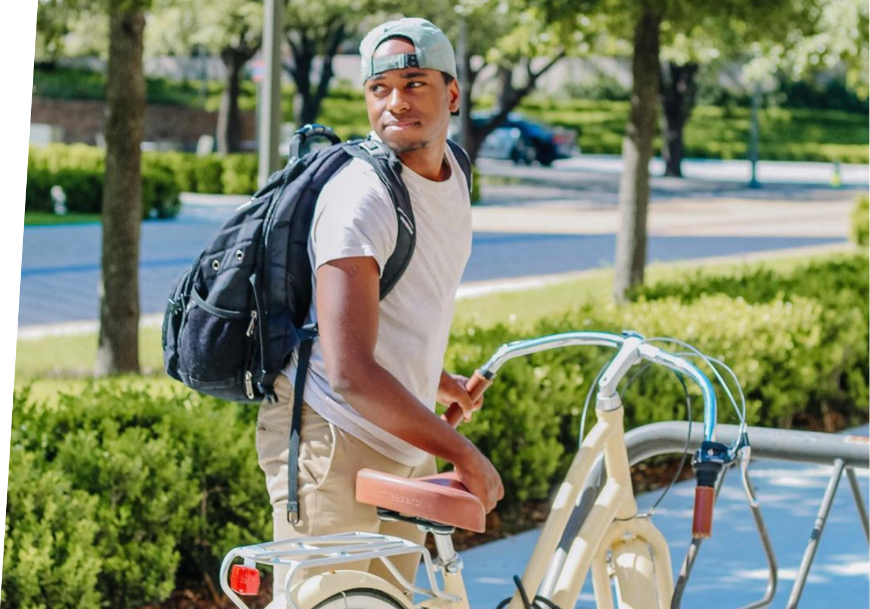 bike, man